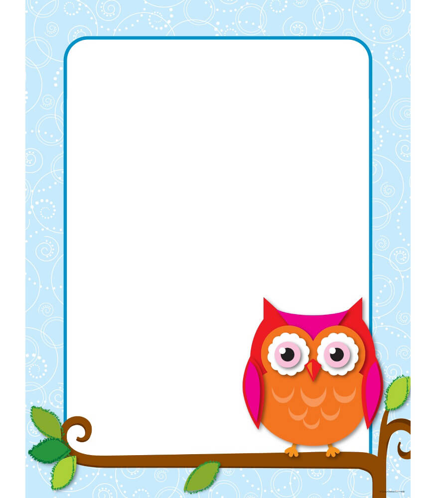 Colorful Owls Chart Product Image