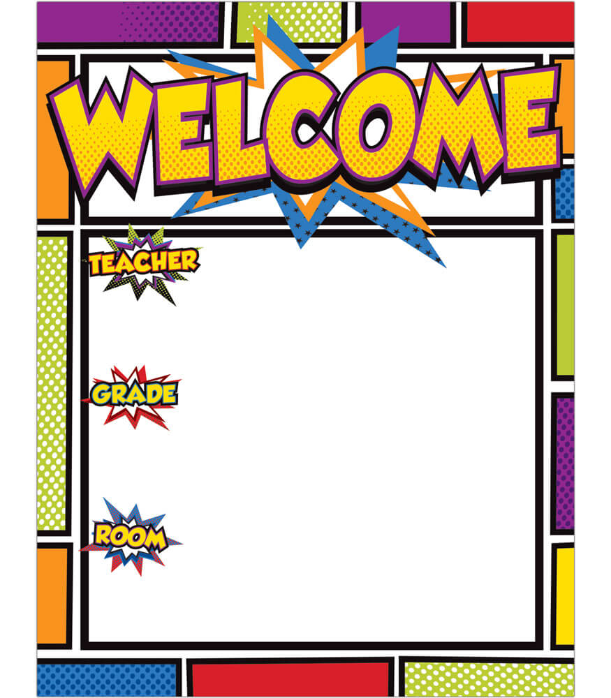 Super Power Welcome Chart Product Image