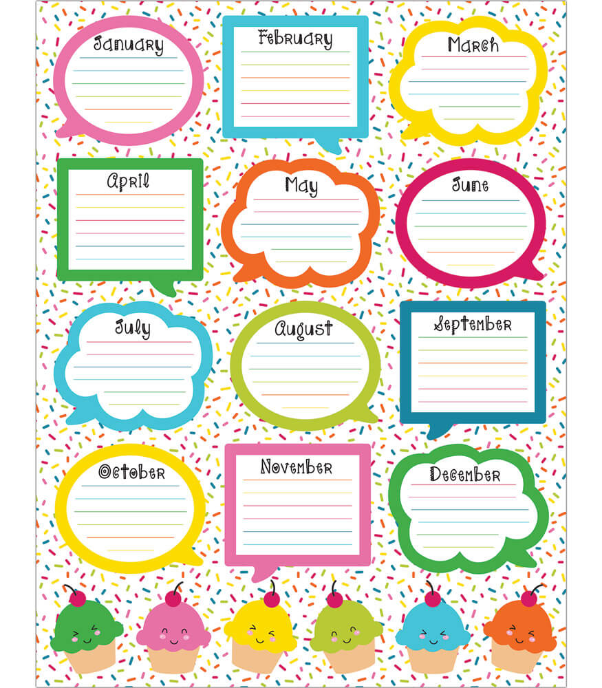 Birthday Calendar In Kindergarten : School pop birthday chart