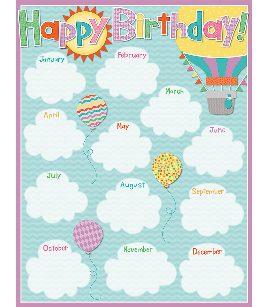 Up and Away Birthday Chart Grade PK-5 | Carson-Dellosa ...