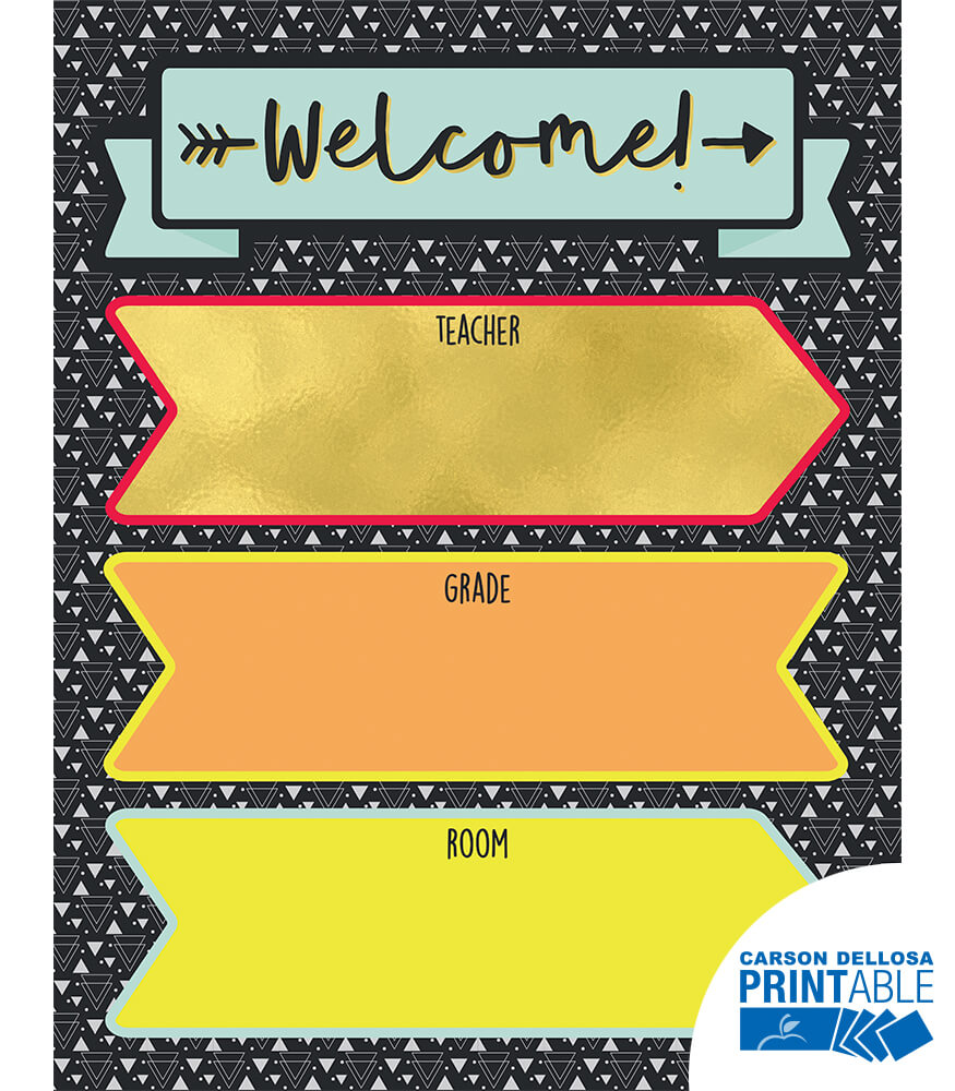 Aim High Welcome Printable Chart