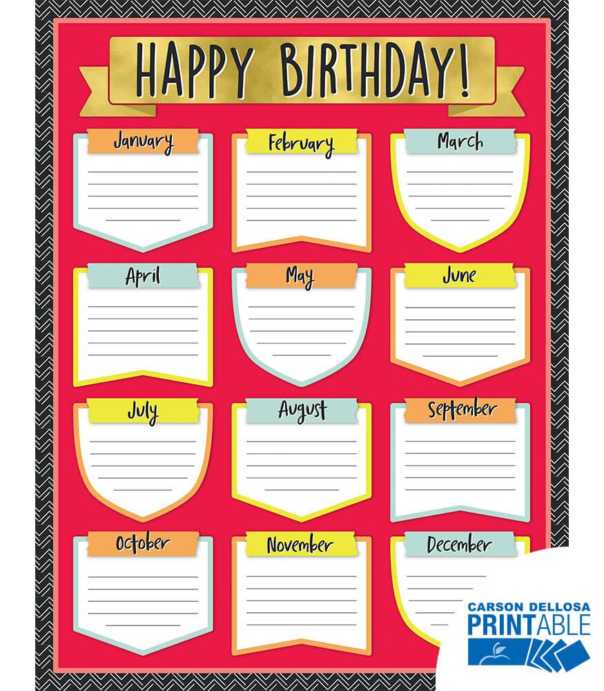 Aim High Birthday Printable Chart Product Image