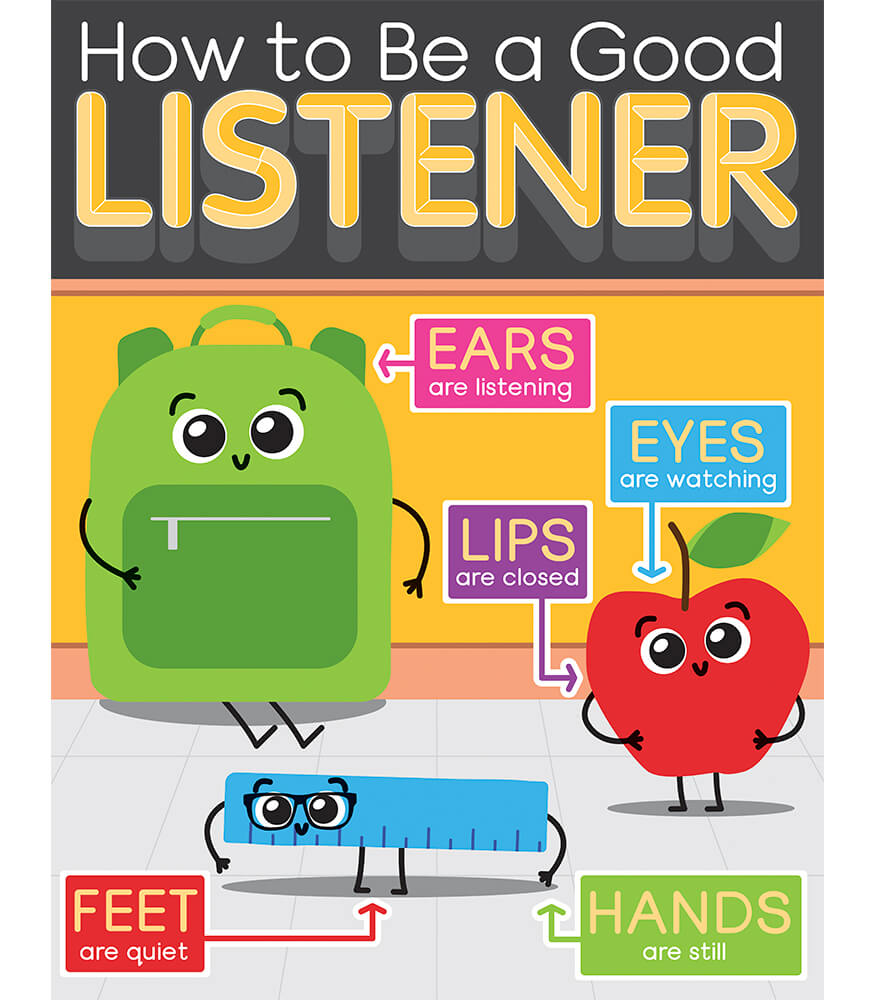 School Tools How to Be a Good Listener Chart Product Image