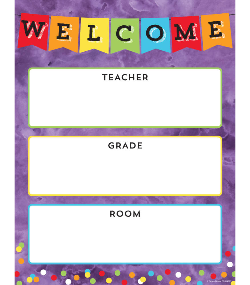Celebrate Learning Welcome Chart Product Image