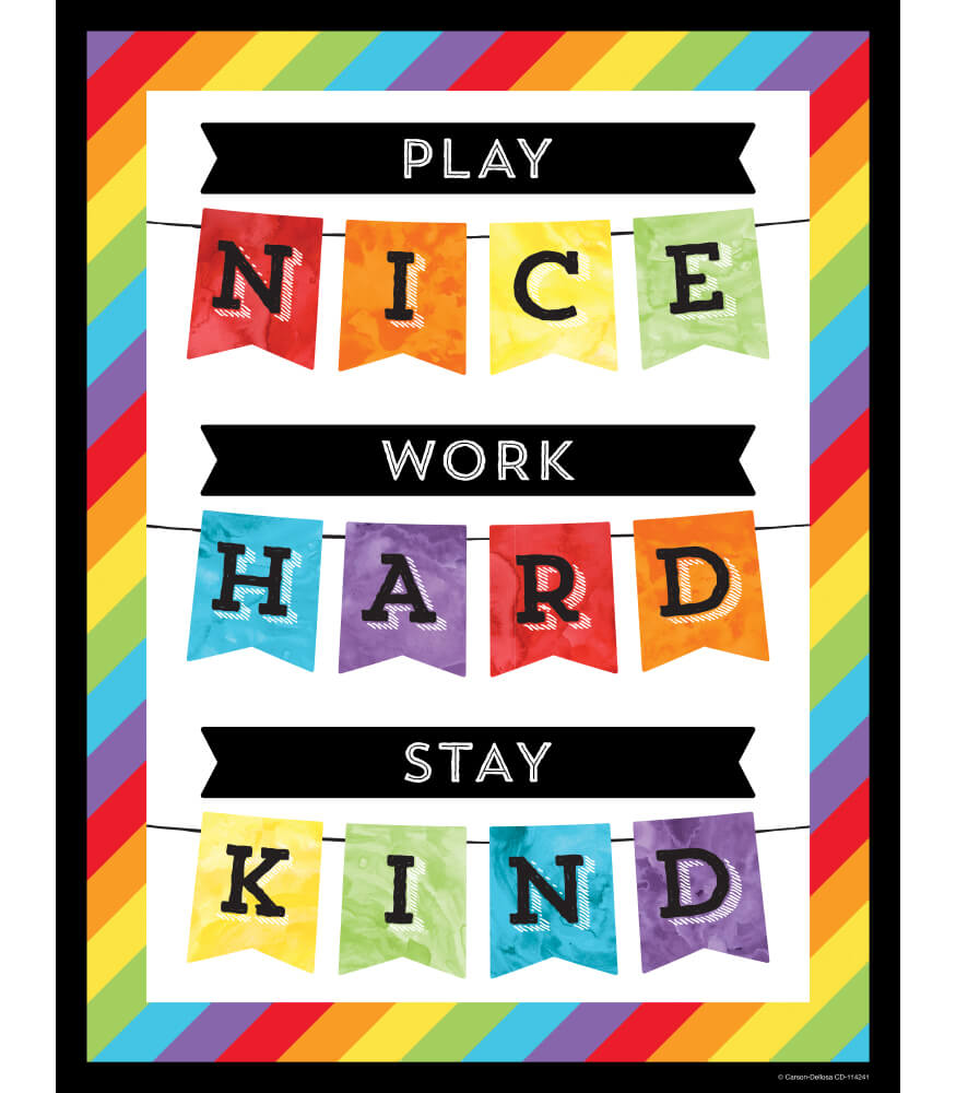 Play Nice Work Hard Stay Kind Chart Product Image
