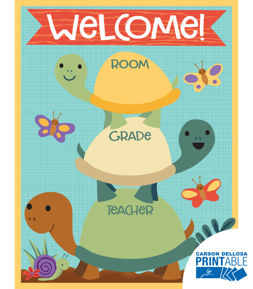 Nature Explorers Welcome Printable Chart Product Image