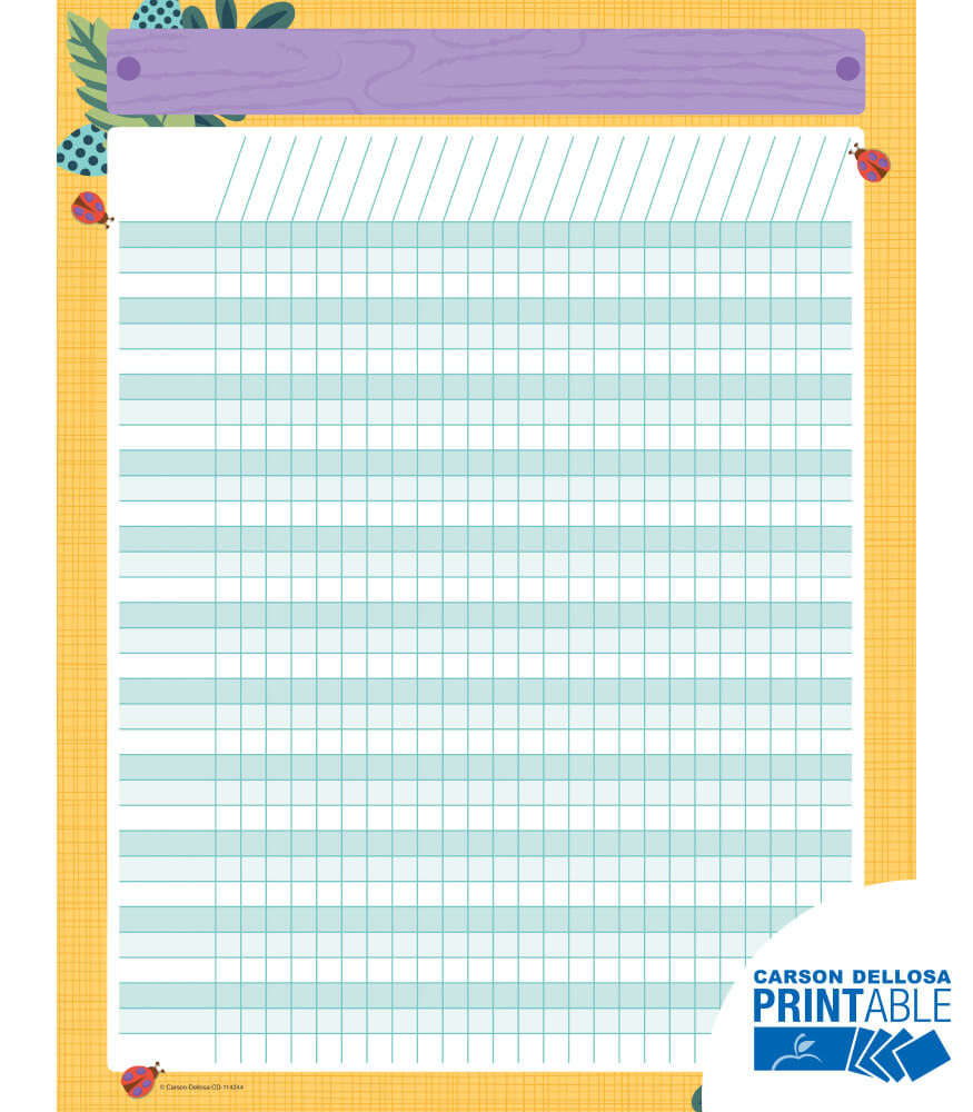 Nature Explorers Incentive Printable Chart Product Image