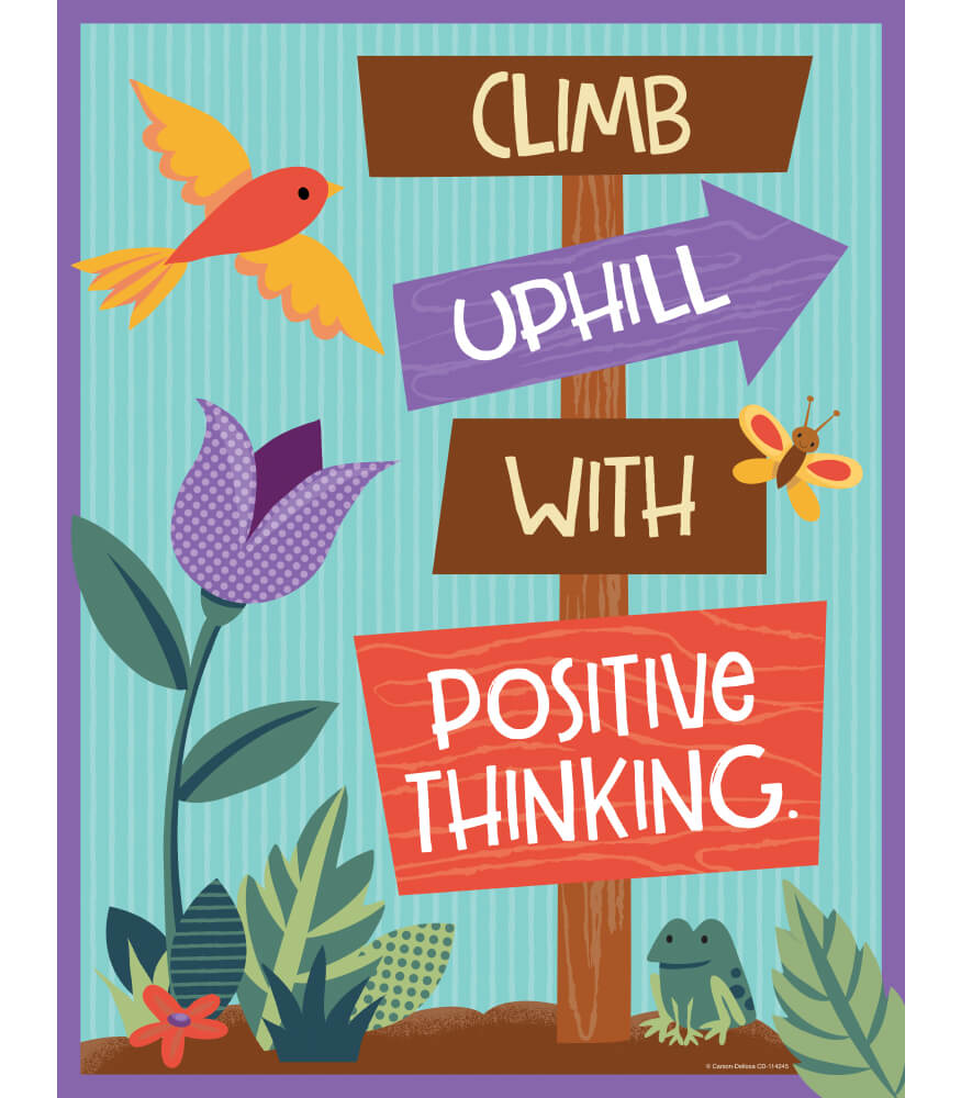 Climb Uphill with Positive Thinking Chart Product Image