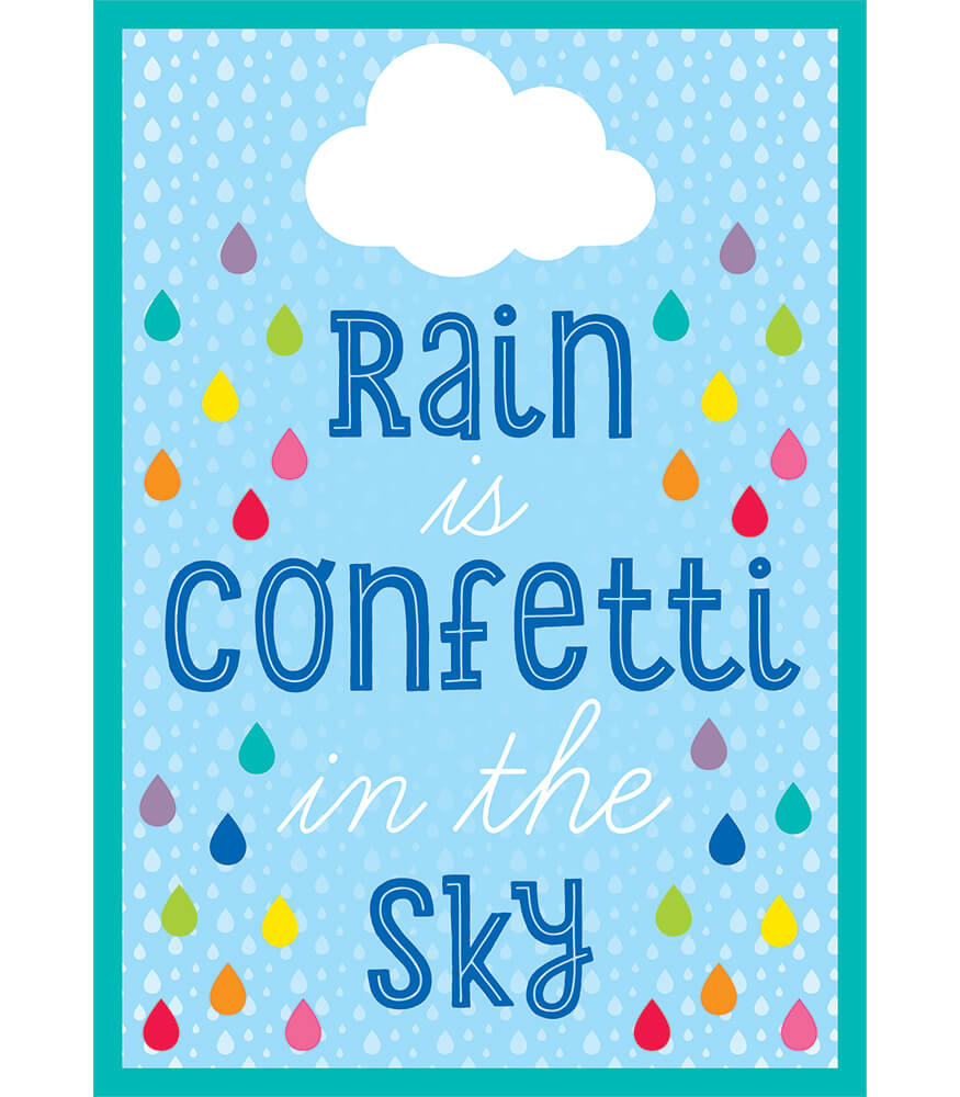 Rain Is Confetti in the Sky Chart Product Image