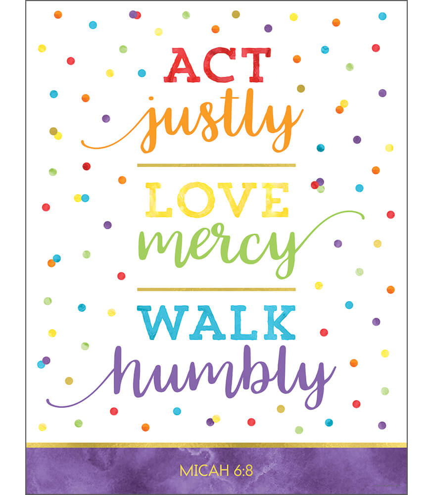 Act Justly Love Mercy Walk Humbly Chart Product Image