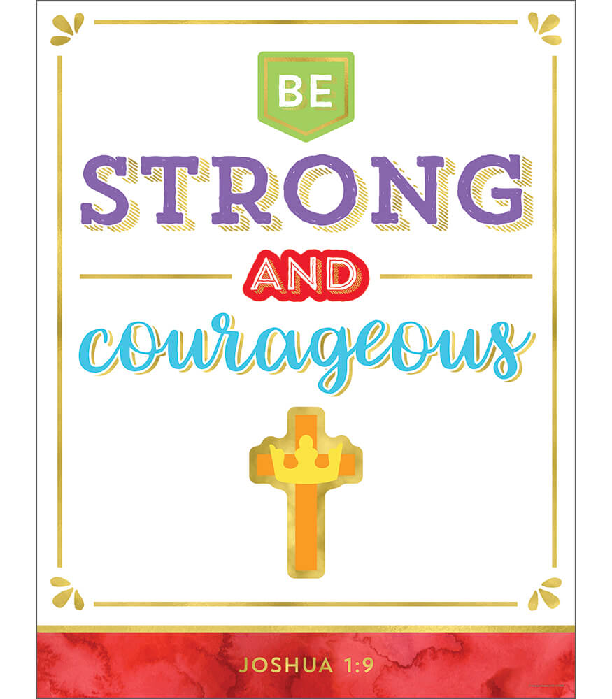 Be Strong and Courageous Chart Product Image