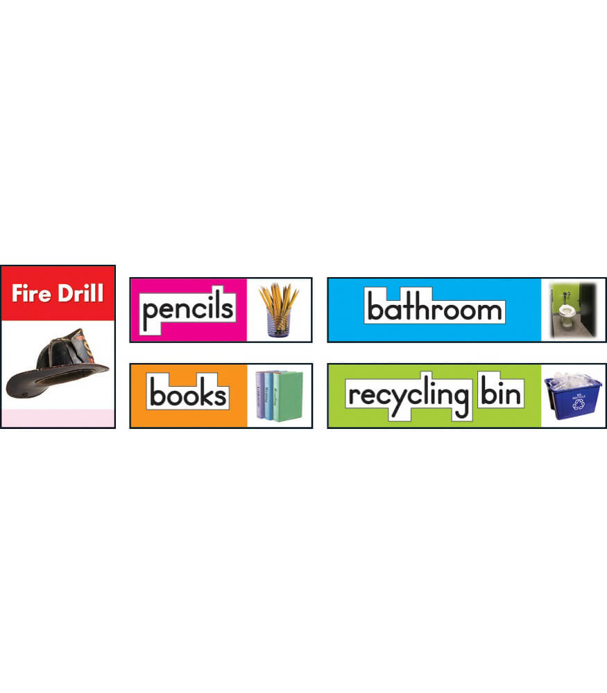 Photographic Classroom Labels Bulletin Board Set Product Image