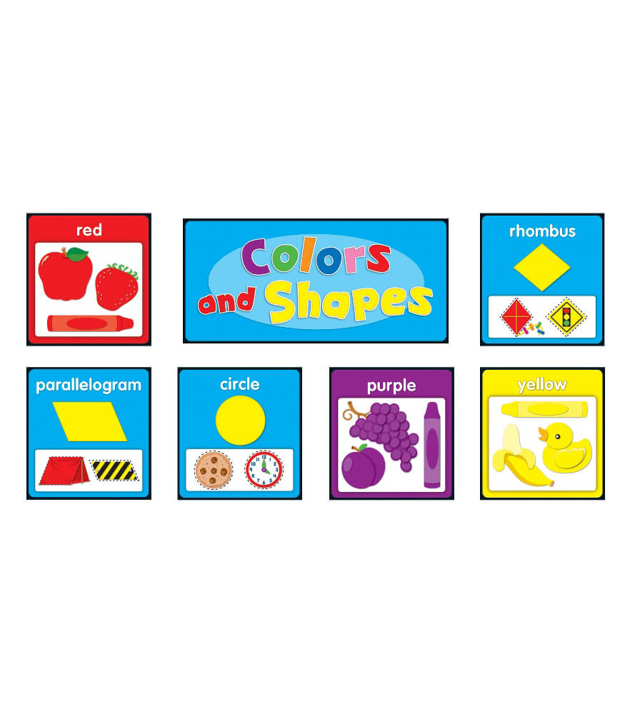 Colors and Shapes Bulletin Board Set Product Image