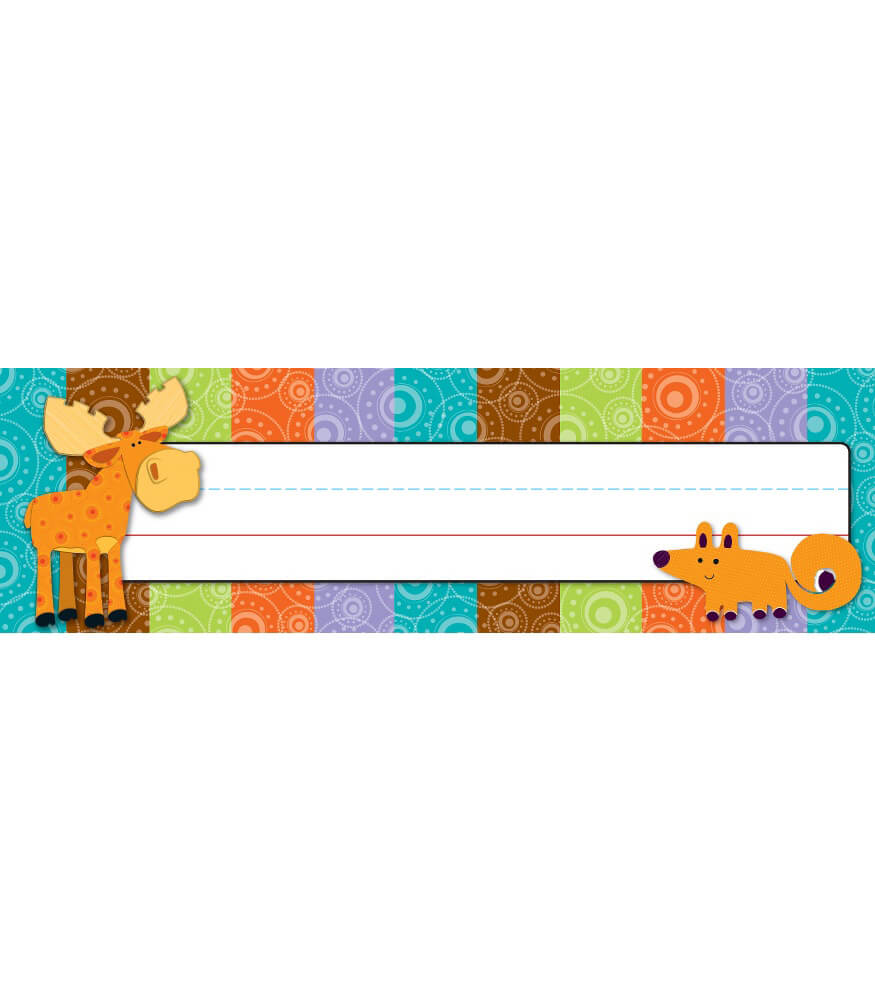 Moose & Friends Nameplates Product Image