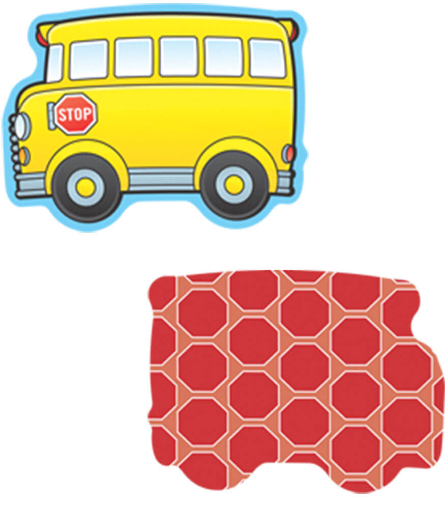 School Buses Mini Cut-Outs Product Image