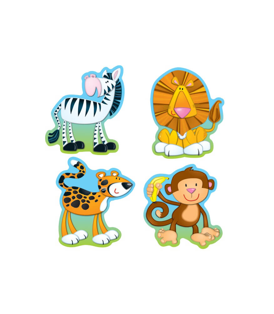 jungle animals cut outs