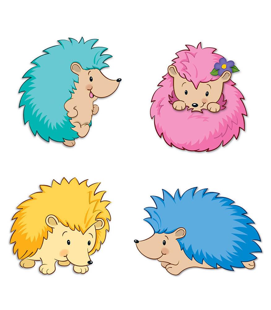 Hedgehog Classroom Decor ~ Happy hedgehogs cut outs grade pk