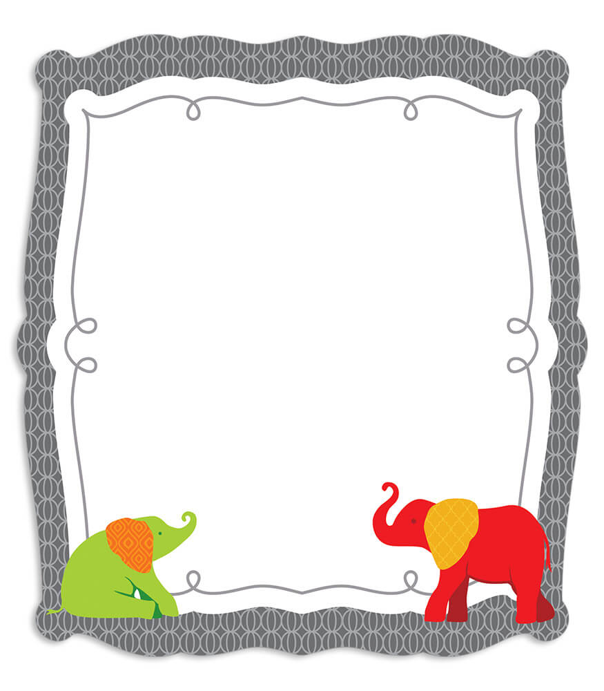 Parade of Elephants Label Cut-Outs Product Image