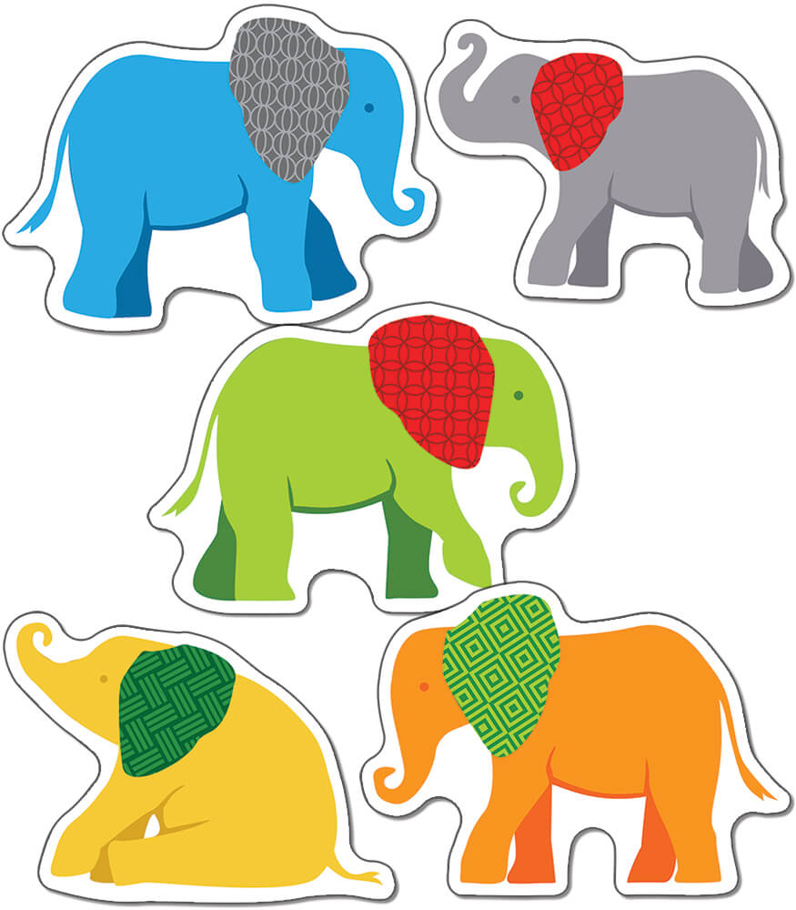Parade of Elephants Cut-Outs Product Image