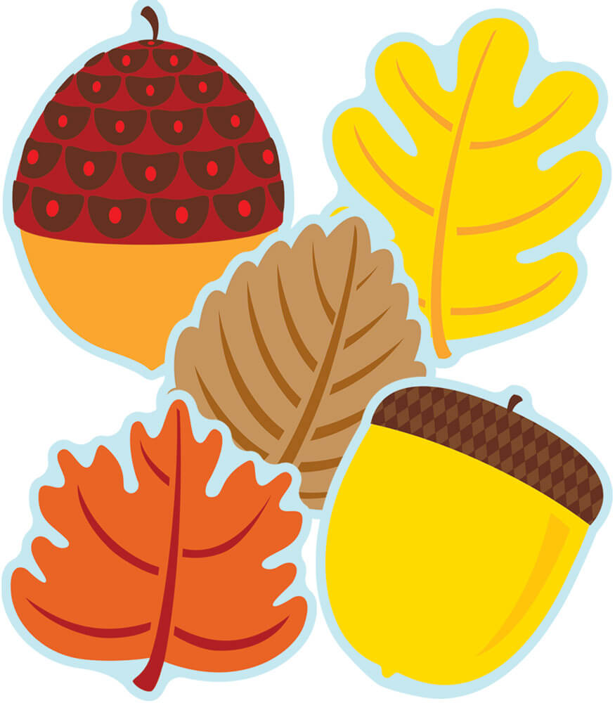 Leaves & Acorns Cut-Outs Product Image