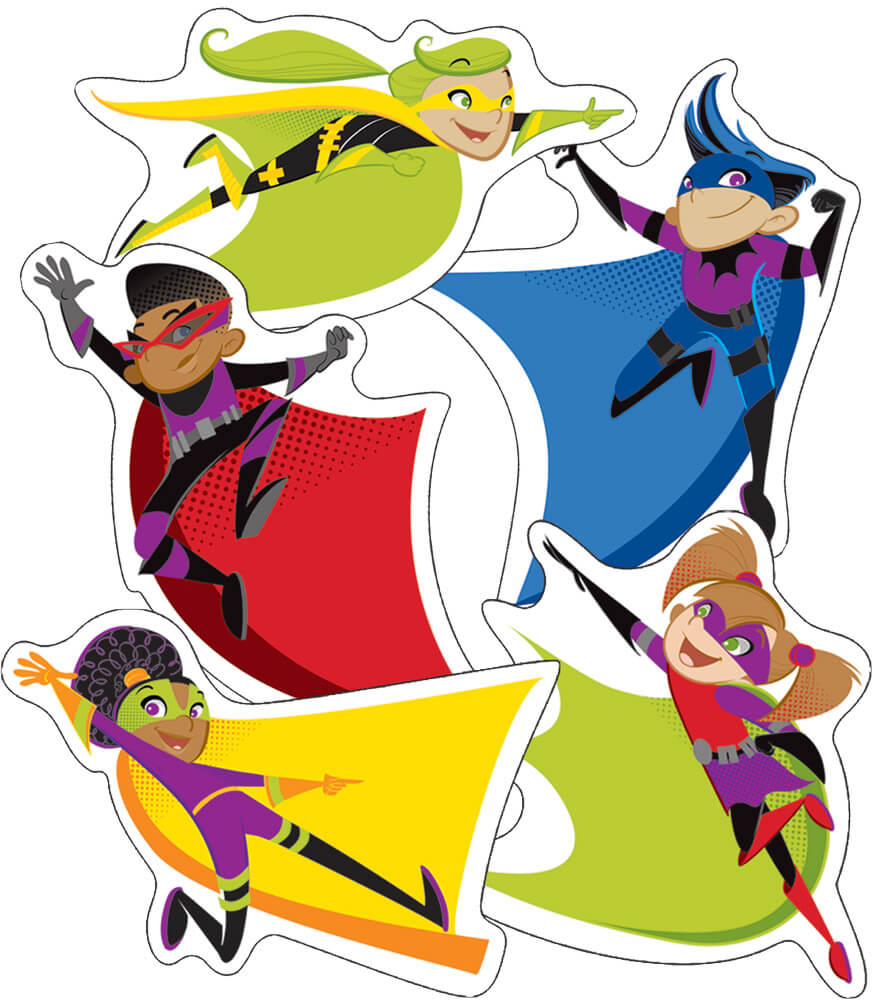 Super Power Super Kids Cut-Outs
