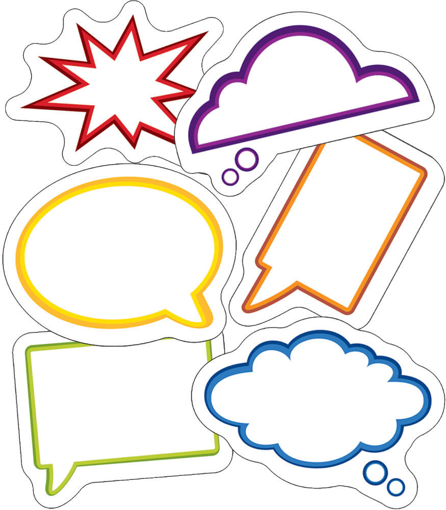 Super Power Speech Bubbles Mini Cut-Outs Product Image