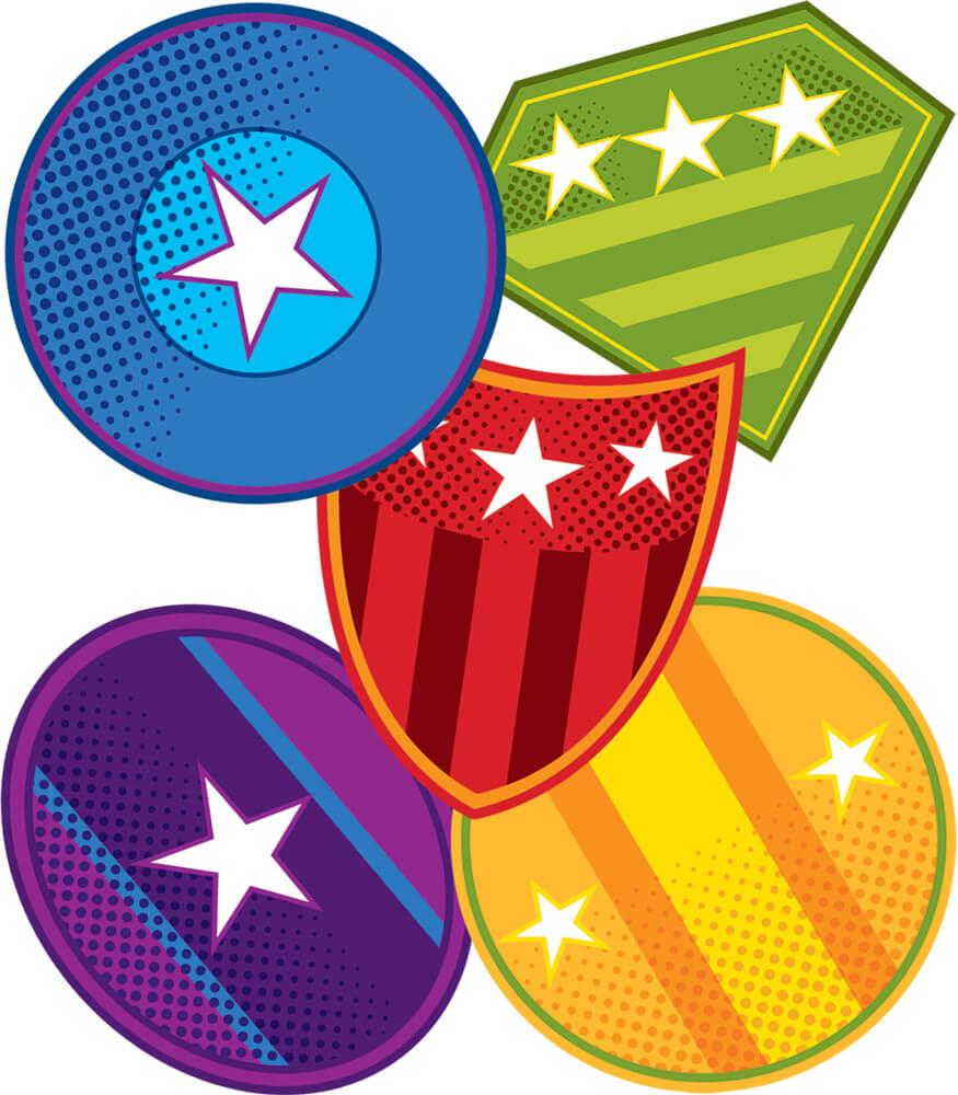 Super Power Shields Mini Cut-Outs Product Image
