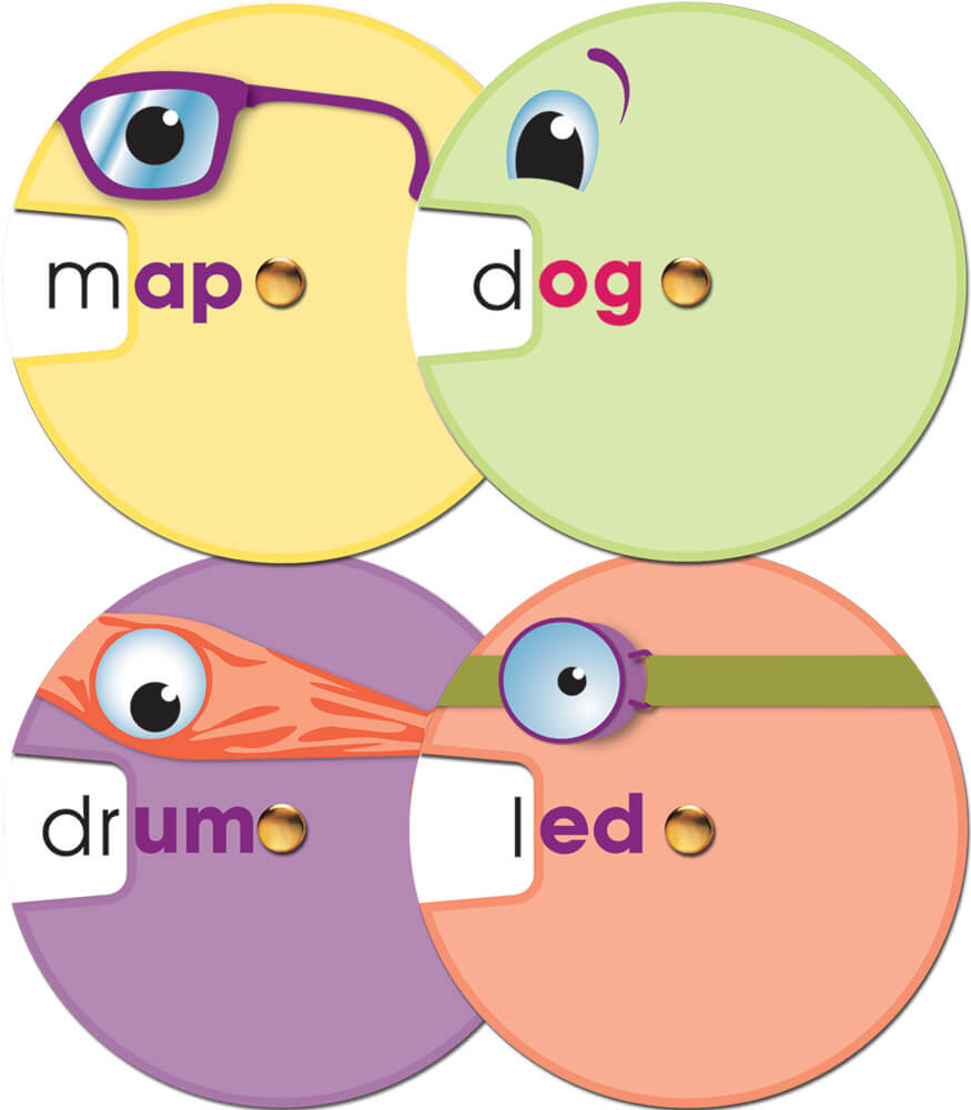 Word Wheels: Word Families Curriculum Cut-Outs Product Image