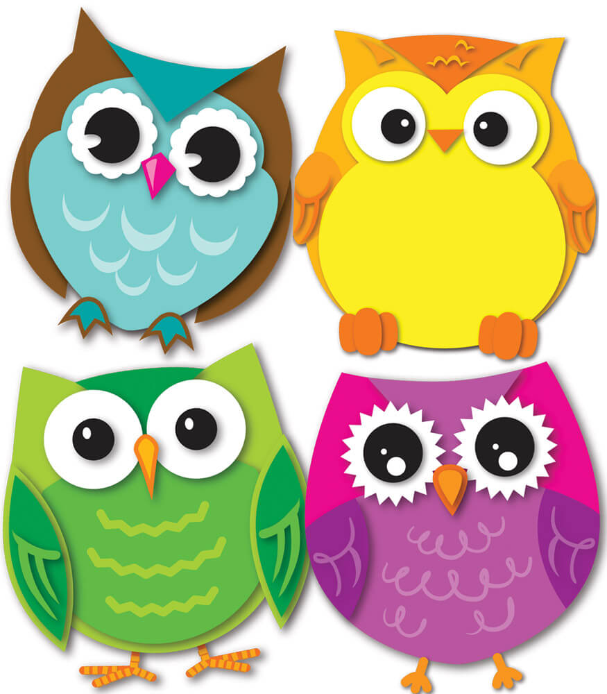 Colorful Owls Mini Cut-Outs Product Image
