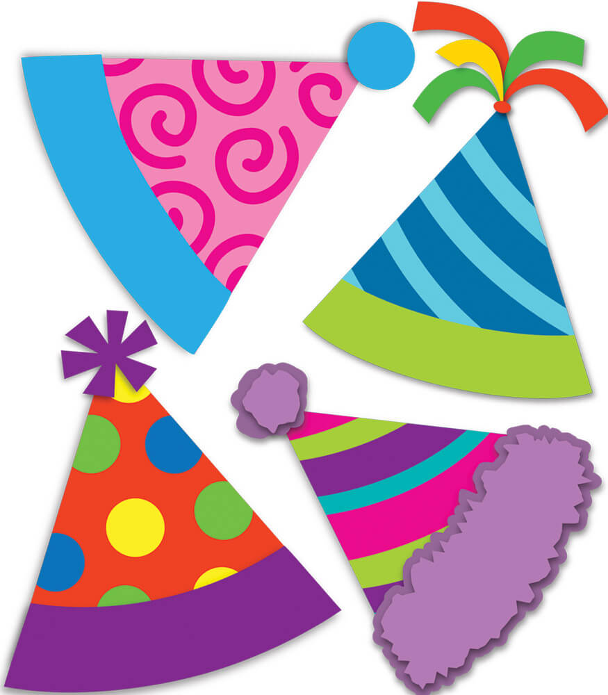 Party Hats Mini Cut-Outs Product Image