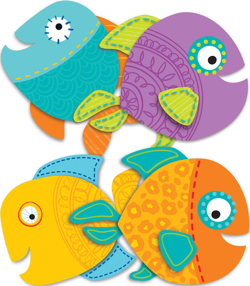 Fish Assorted Mini Cut-Outs Product Image