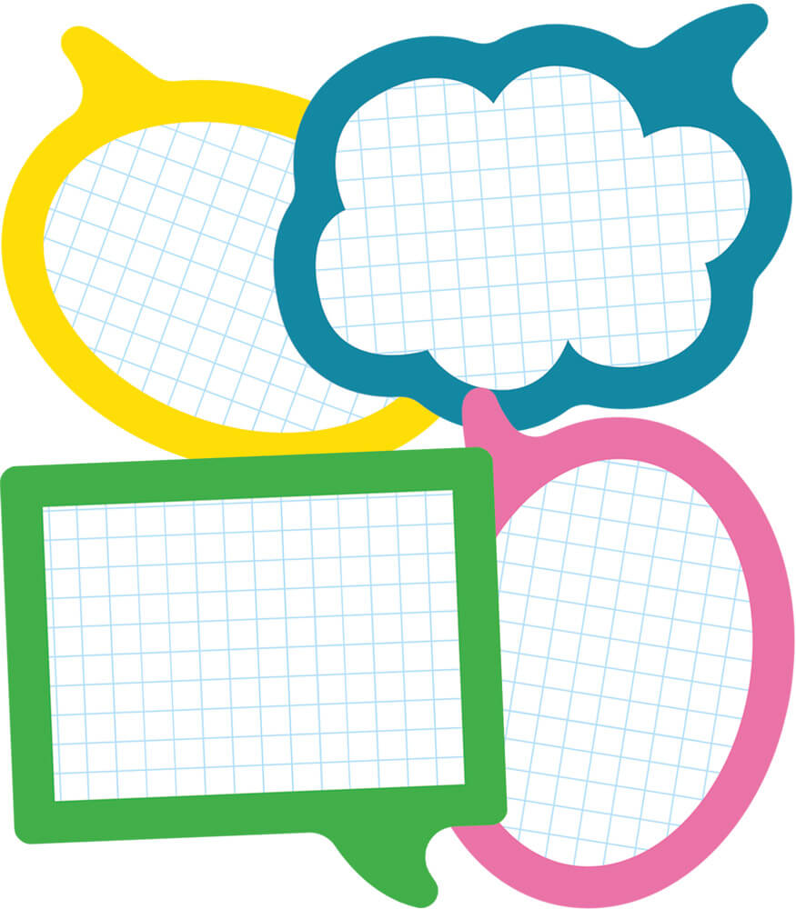 School Pop Speech Bubbles Cut-Outs Product Image