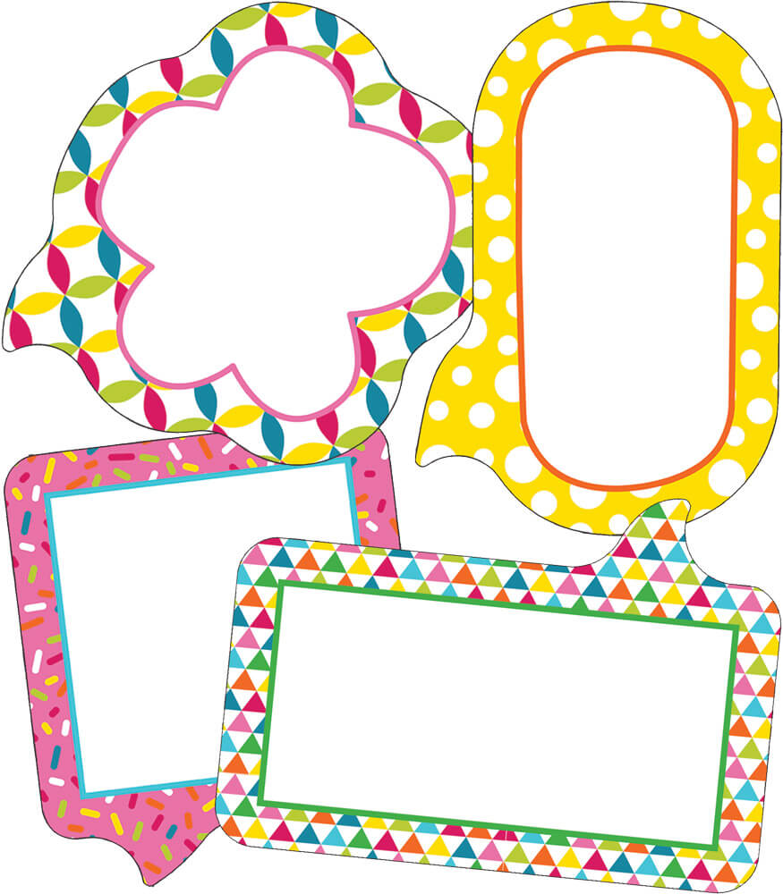 School Pop Small Speech Bubbles Mini Cut-Outs Product Image