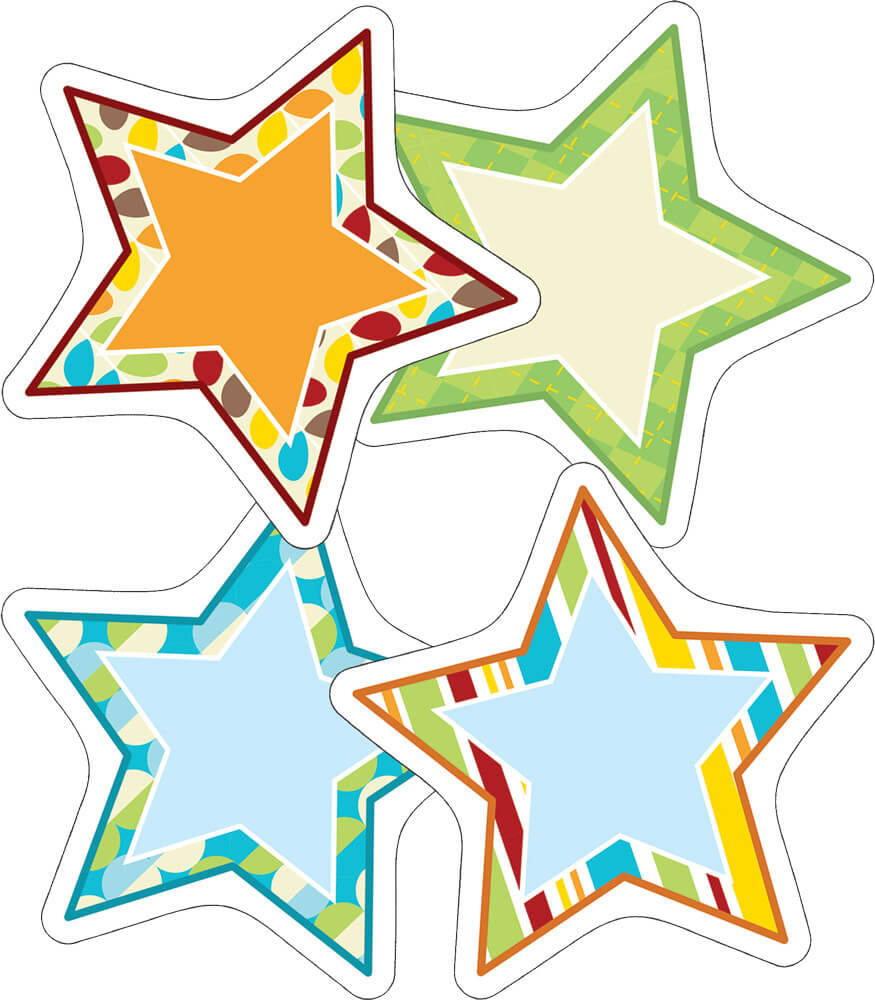 Hipster Stars Cut-Outs Product Image
