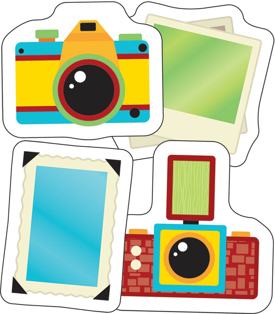 Hipster Cameras and Photos Mini Cut-Outs Product Image