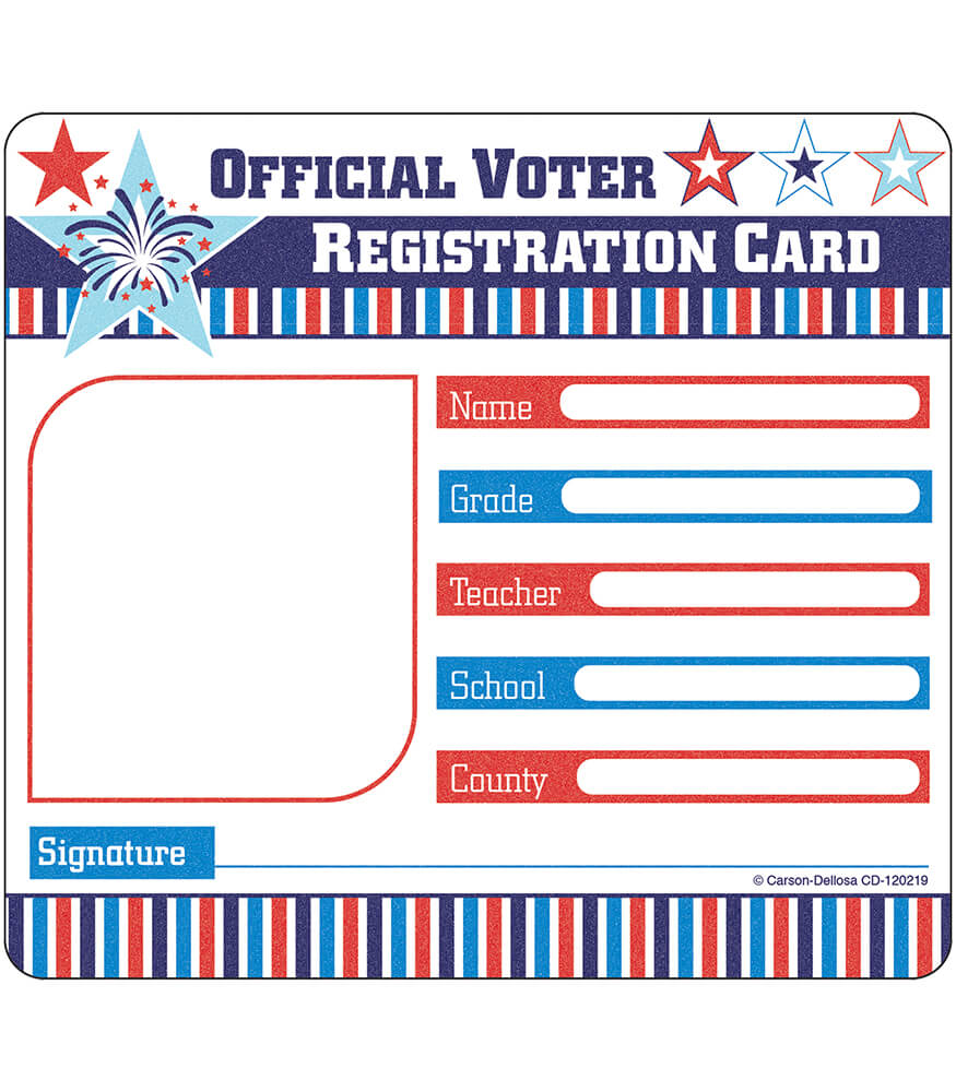 Voter Registration Card Cut-Outs Product Image