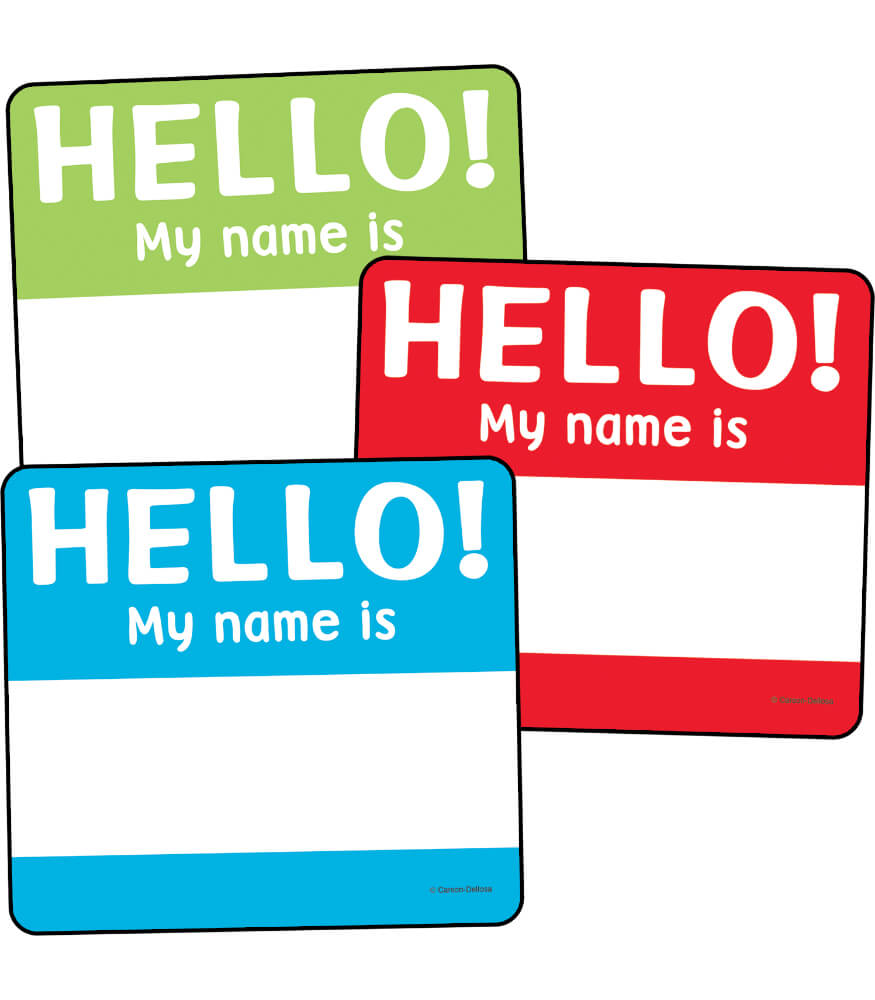 Hello Tags Cut-Outs Product Image