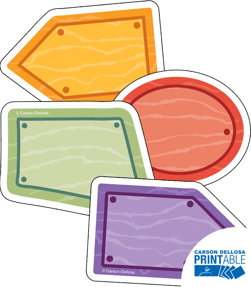 Wood Signs Printable Cut-Outs Product Image