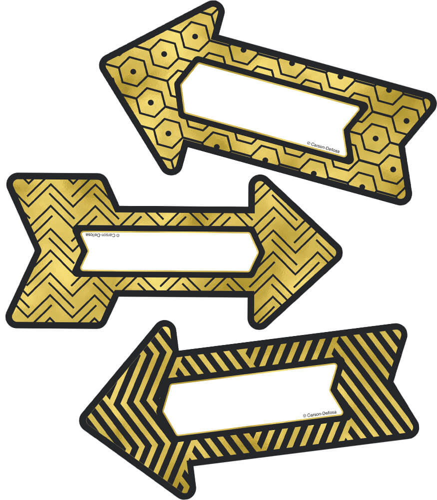 Black and Gold Arrows Cut-Outs Product Image