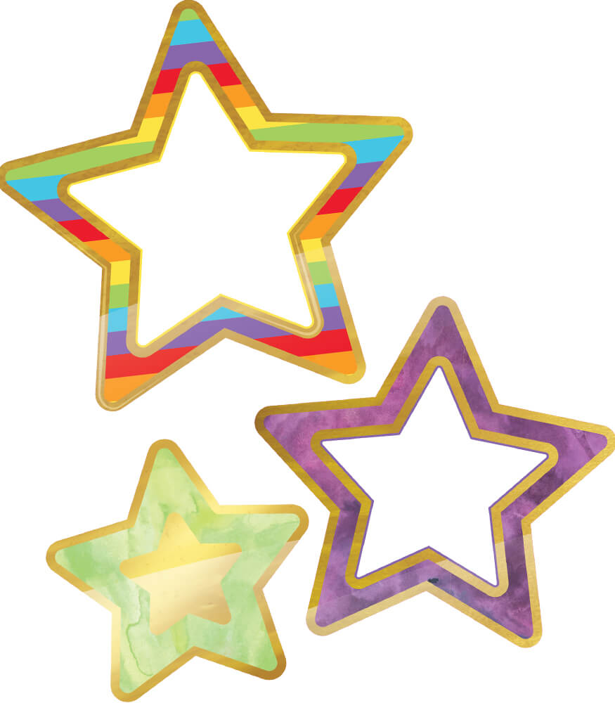 Rainbow and Foil Stars Cut-Outs Product Image
