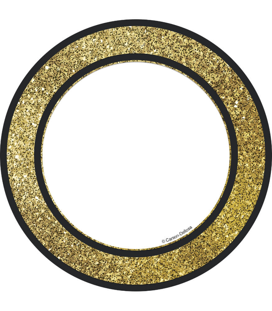 Gold Glitter Dots Cut-Outs Product Image