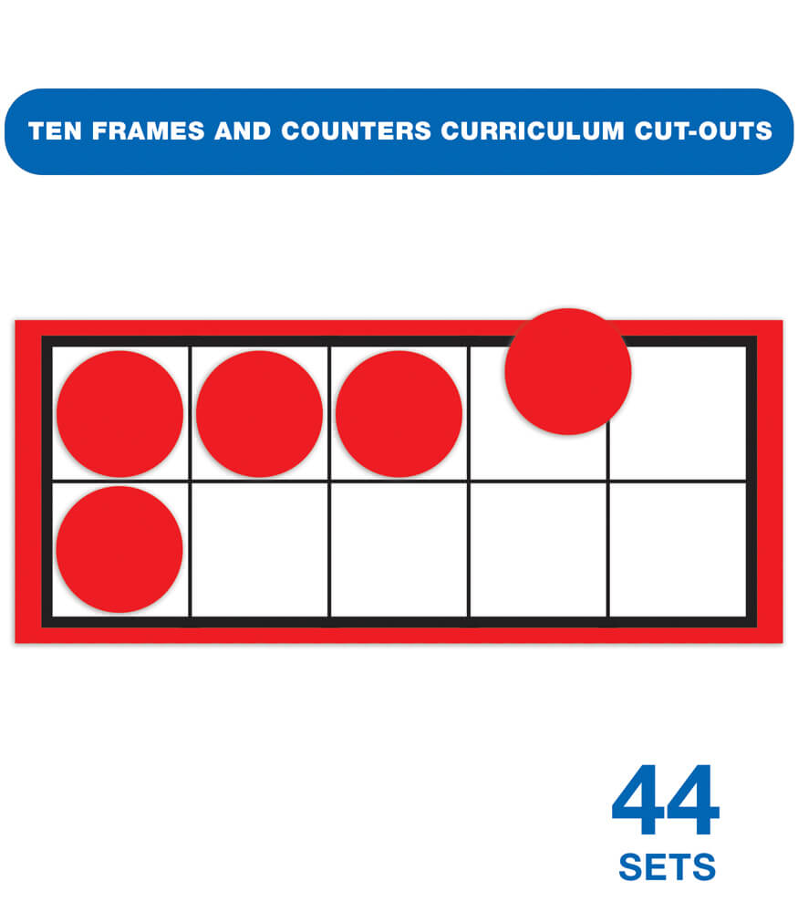 Ten Frames and Counters Curriculum Cut-Outs Product Image