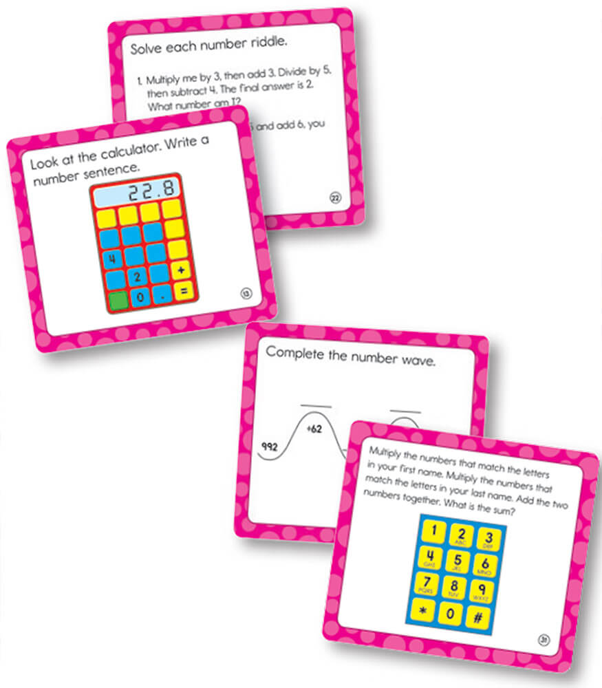 Math Challenge Curriculum Cut-Outs Product Image
