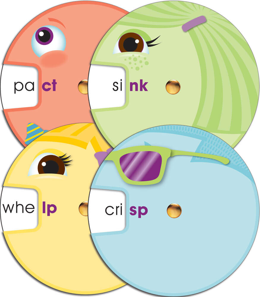 Word Wheels: Ending Blends Curriculum Cut-Outs