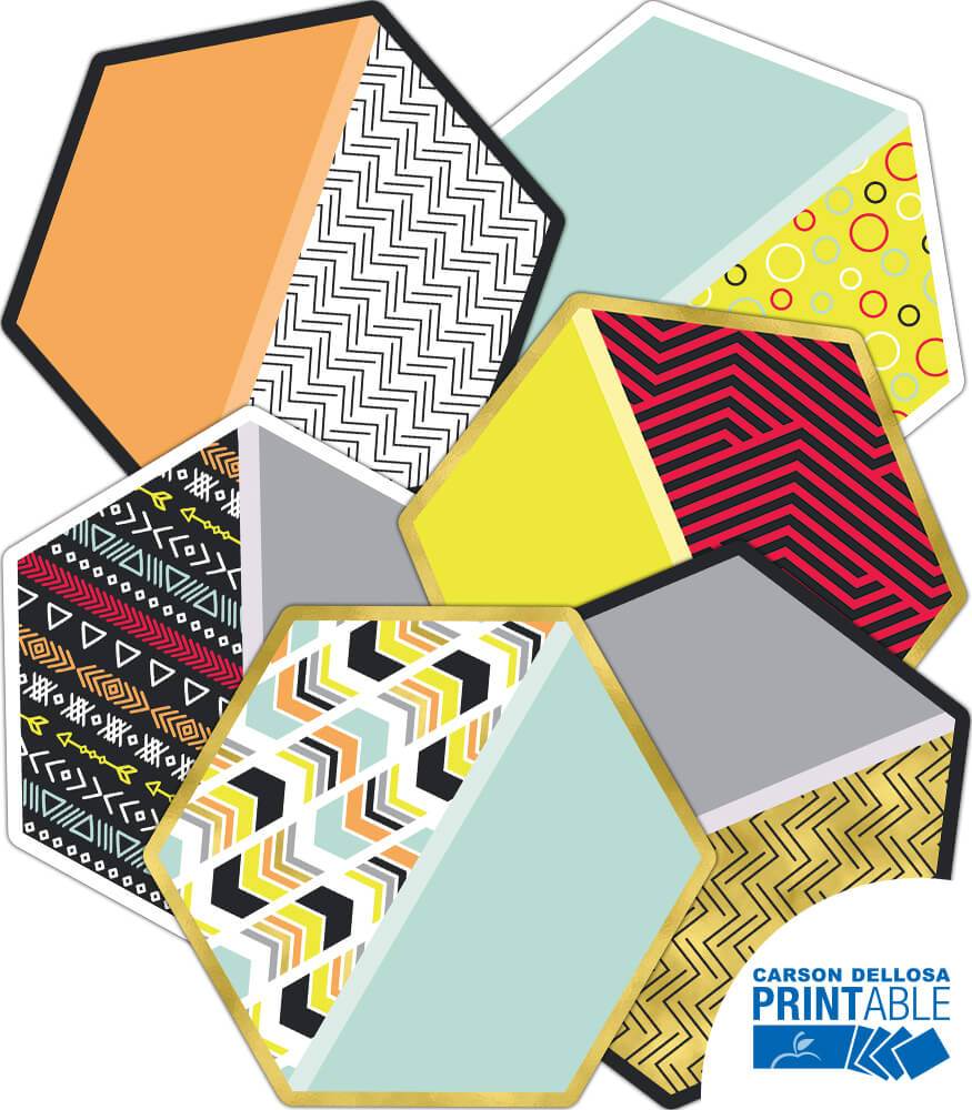 Hexagons Printable Cut-Outs