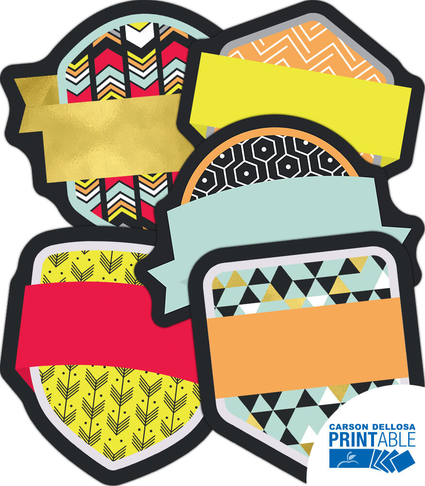 Badges Printable Cut-Outs Product Image