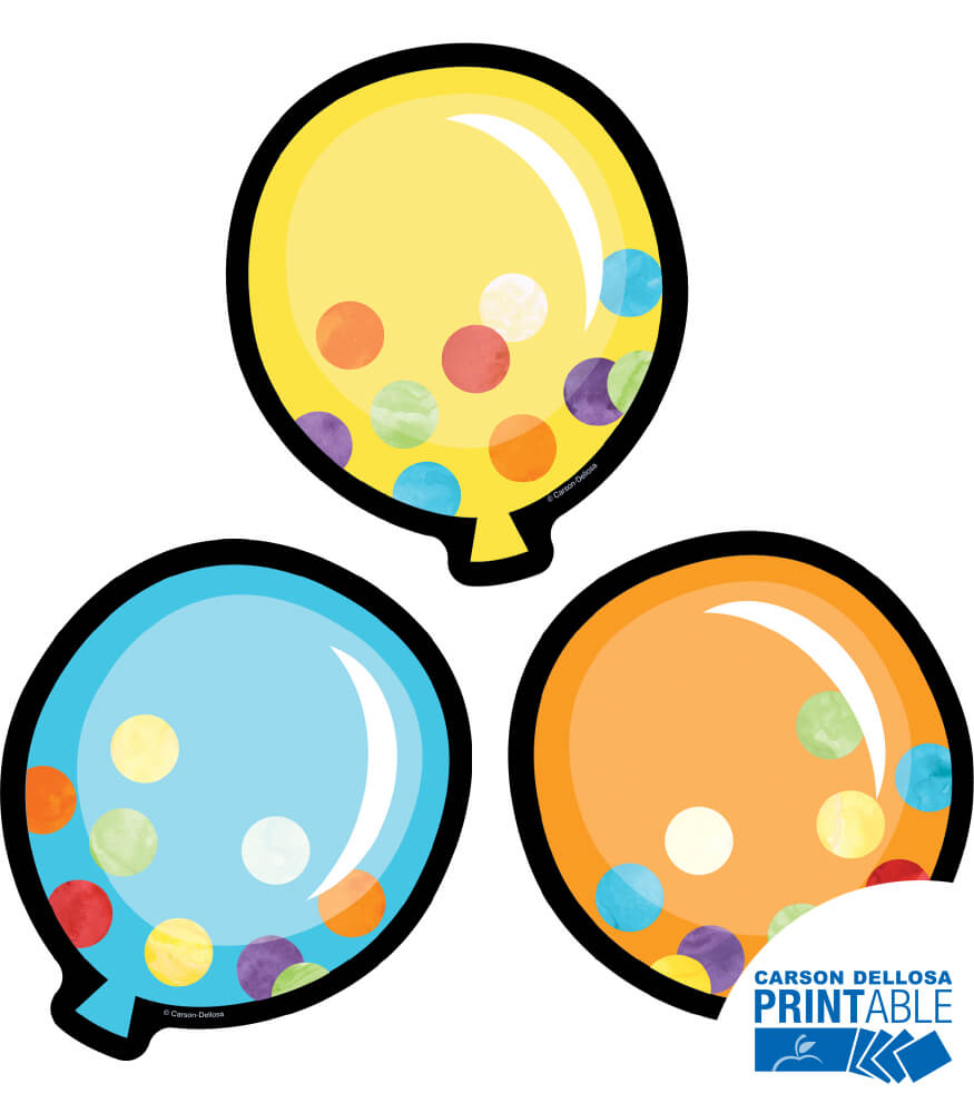 Balloons Printable Cut-Outs Product Image