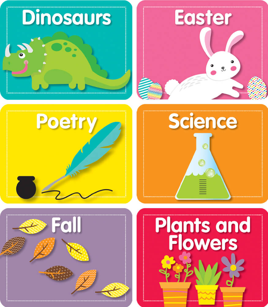 Library Labels Mini Cut-Outs Product Image