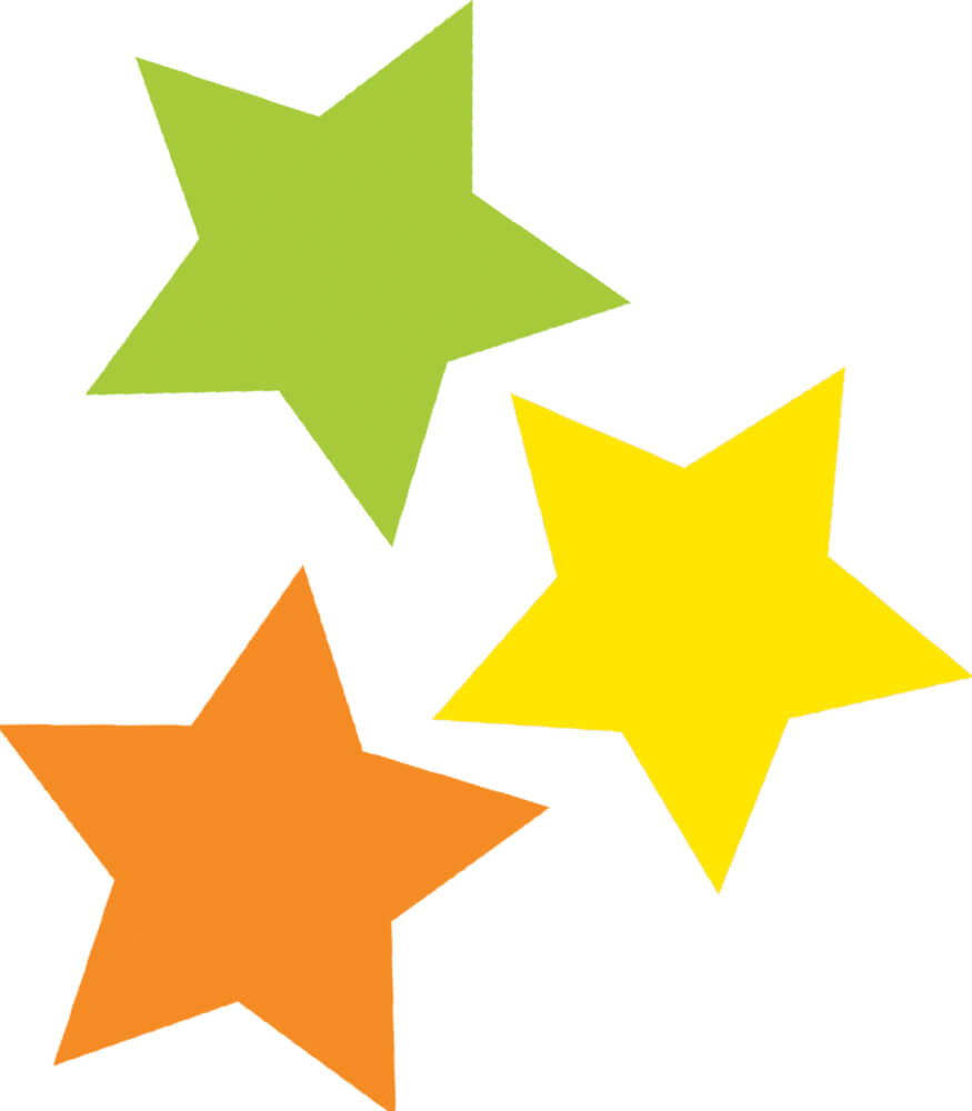 Color Stars Mini Cut-Outs Product Image