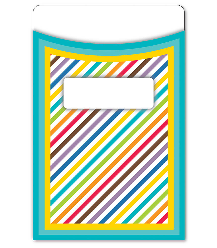 Color Me Bright Extra Large Library Pockets Product Image